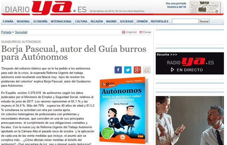 GuíaBurros para autónomos en DiarioYa
