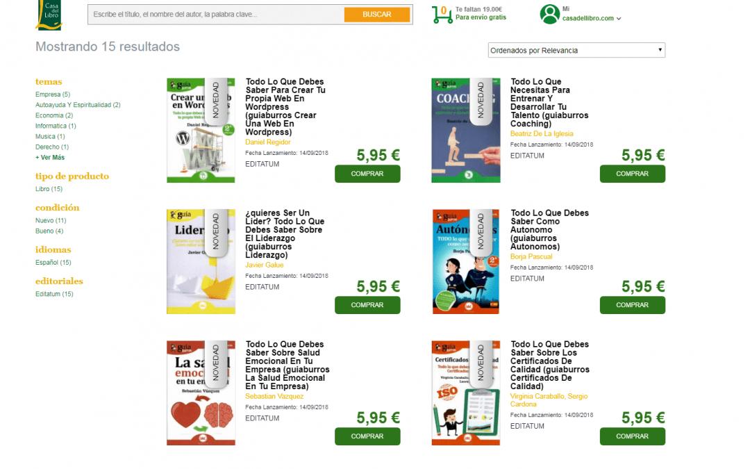 La editorial Editatum llega a la Casa del Libro con su principal colección: Los GuíaBurros