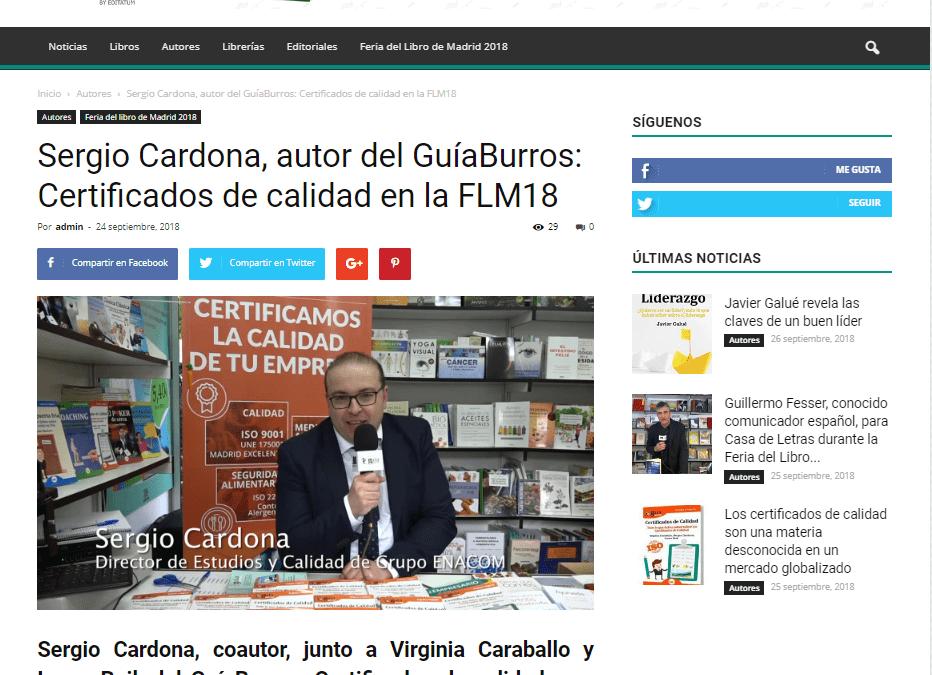 Sergio Cardona, uno de los autores del GuíaBurros: Certificados de Calidad entrevistado por Casa de Letras