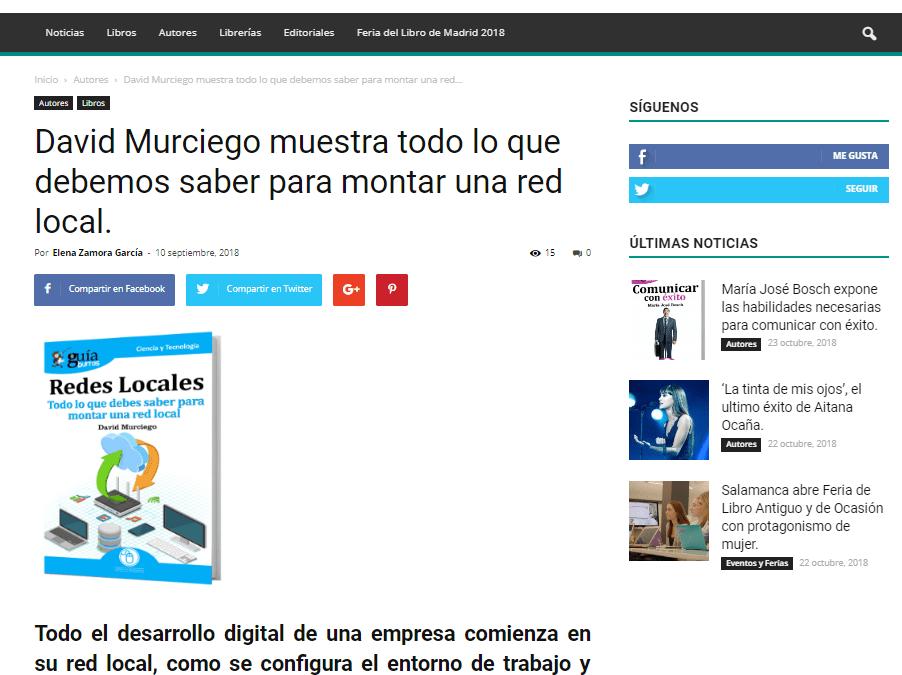 David Murciego con su GuíaBurros: Redes Locales en Casa de Letras