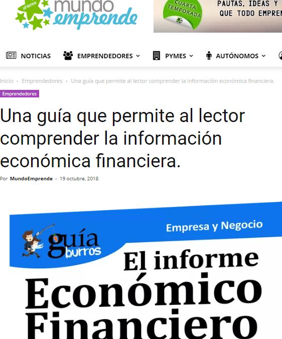 Mundo Emprende, medio pionero en emprendimiento, habla sobre el GuíaBurros Informe Económico Financiero