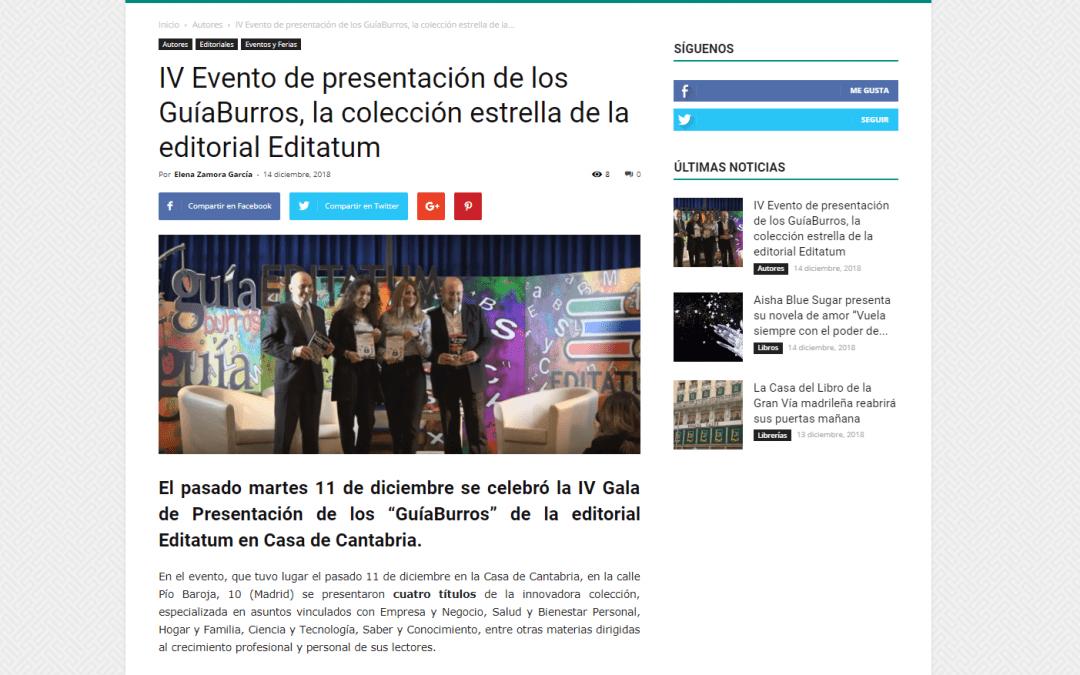 La IV gala de presentación de la editorial Editatum, en Casa de Letras